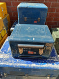 MEDIUM BLUE CARGO CONTAINER BOX CASE AMMO MEDICAL SUPPORT MILITARY USN USAF SINGLE UNIT