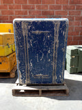 XL BLUE CARGO CONTAINER BOX CASE AMMO MEDICAL SUPPORT MILITARY USN USAF SINGLE UNIT