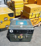 LARGE GREEN OLIVE DRAB BLUE CARGO CONTAINER CASE BOX AMMO MEDICAL SUPPORT MILITARY SINGLE UNIT