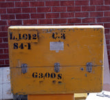 XL YELLOW CARGO CONTAINER BOX CASE AMMO MEDICAL SUPPORT MILITARY USN USAF SINGLE UNIT