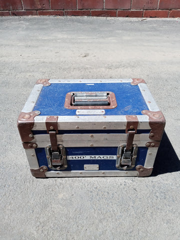 BLUE SMALL CARGO CONTAINER BOX CASE AMMO MEDICAL SUPPORT MILITARY USN USAF SINGLE UNIT