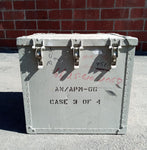 GREY MEDIUM CARGO CONTAINER BOX CASE AMMO MEDICAL SUPPORT MILITARY USN USAF