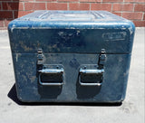 BLUE MEDIUM CARGO CONTAINER BOX CASE AMMO MEDICAL SUPPORT MILITARY USN USAF SINGLE UNIT
