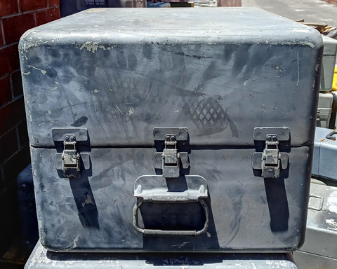 GREY OLIVE DRAB CARGO CONTAINER CASE BOX AMMO MEDICAL SUPPORT MILITARY ARMY USMC SINGLE UNIT