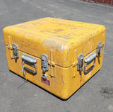MEDIUM YELLOW CARGO CONTAINER BOX CASE AMMO MEDICAL SUPPORT MILITARY USN USAF SINGLE UNIT