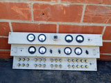 GREY STEPPED PANEL MULTI KNOB GAUGE CONTROL WIRE SINGLE UNIT