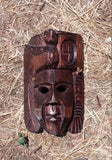WOOD TRIBAL MASK SINGLE UNIT