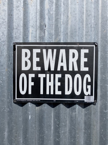 BEWARE OF DOG SECURITY WALL GATE FENCE SIGN SINGLE UNIT