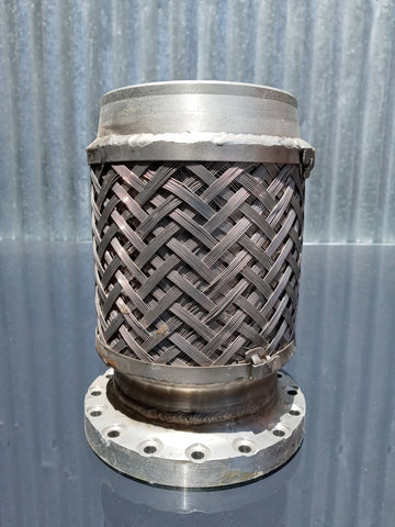STAINLESS PIPE BRAIDED BOLT BELLOW FLANGE SINGLE UNIT