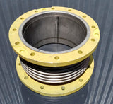 STAINLESS PIPE RIBBED DOUBLE FLANGE BELLOW SINGLE UNIT