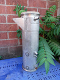 AEROSPACE SCI-FI SPACESHIP ALIEN HEAT EXCHANGER STAINLESS PIPE SINGLE UNIT