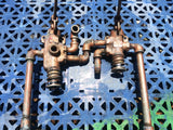 COPPER DOUBLE VALVE HANDLE KNOB LEVER TANK PIPE CONTROL FLUID AIR UNIT SINGLE UNIT