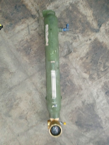 GAUGE METER AEROSPACE AIRCRAFT MILITARY OXYGEN GREEN TANK SINGLE UNIT