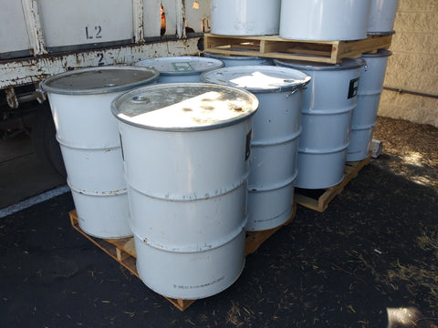 WHITE 55 GALLONDRUMS STEEL BARRELS OPEN TOP Liquid Chemical Industrial Tank Single Unit