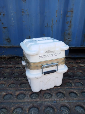 SMALL WHITE THERMODYNE CARGO CONTAINER BOX CASE AMMO MEDICAL AEROSPACE AVIATION MILITARY
