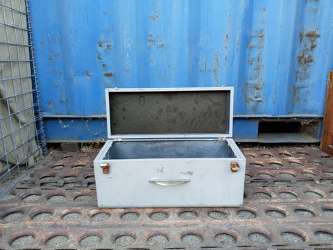 SMALL GREY ALUMINUM CARGO CASE TOOL BOX SUPPORT SINGLE UNIT