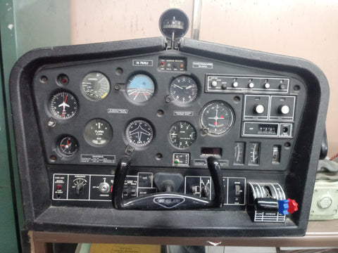 AVIATION COCKPIT GAUGE HANDLE PERSONAL AEROSPACE FLIGHT SIMULATOR CESSNA BLACK SINGLE UNIT