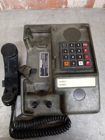 MILITARY PHONE DIGITAL NON SECURE VOICE TERMINAL TELEPHONE GREEN SINGLE UNIT