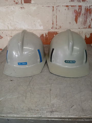 HARD HAT HELMET GREY CONSTRUCTION INDUSTRIAL SINGLE UNIT