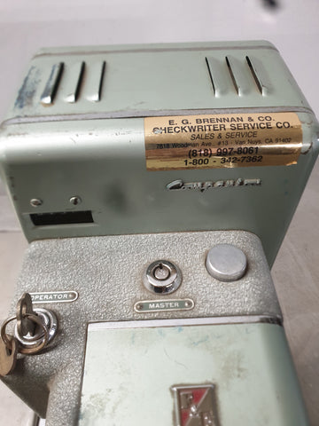 E.G. BRENNAN & CO SIGN O METER AND DATER OFFICE EQUIPMENT GREEN SINGLE UNIT