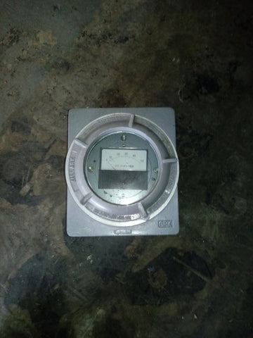 AC AMPERES EXPLOSION PROOF NAUTICAL METER BOX SINGLE UNIT