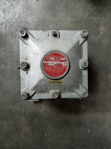 LARGE EXPLOSION PROOF ELECTRICAL INDUSTRIAL BOX SINGLE UNIT