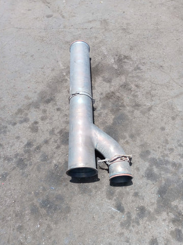 Y SHAPED EXHAUST PIPE BLUE SINGLE UNIT