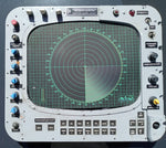MILITARY AEROSPACE AVIATION NAUTICAL SONAR RADAR GREEN SCREEN TARGET TRACKING KNOBS PANEL SINGLE UNIT
