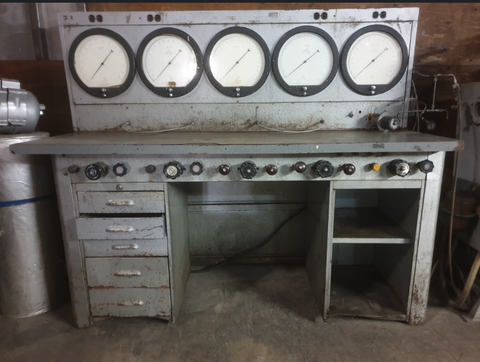 INDUSTRIAL PNEUMATIC VALVE GAUGE LABORATORY VINTAGE RETRO TEST STAND BENCH SINGLE UNIT