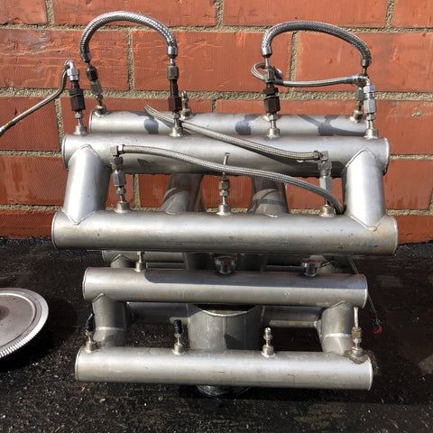 AEROSPACE SCI-FI LABORATORY VACUUM MANIFOLD SILVER SINGLE UNIT