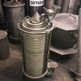 AEROSPACE INDUSTRIAL HEAT EXCHANGER RADIATOR CONE CUT AWAY GREY SINGLE UNIT
