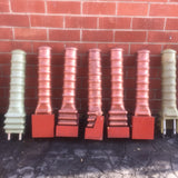 INDUSTRIAL COPPER ANTENNAS PROPS GROUP LOT OF 5