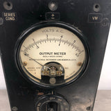 OUTPUT METER VOLTS AC LABORATORY ELECTRICAL KNOB METER BOX PANEL BLACK  SINGLE UNIT