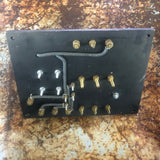 INDUSTRIAL WARD ELECTRICAL BRASS COPER POWER PANEL BLACK SINGLE UNIT