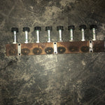 RUSTY HYDRAULIC INDUSTRIAL KNOB MANIFOLD 3 SINGLE UNIT