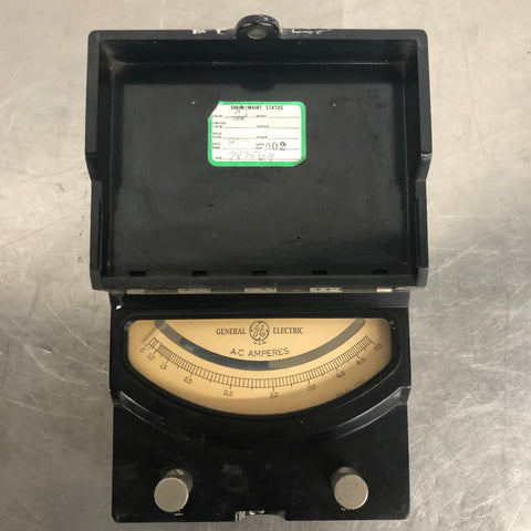 GENERAL ELECTRIC VOLT LABORATORY AC AMPERES BLACK BOX PANEL SINGLE UNIT