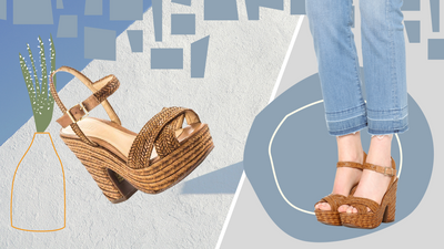 Straw sandals are a must this spring and summer