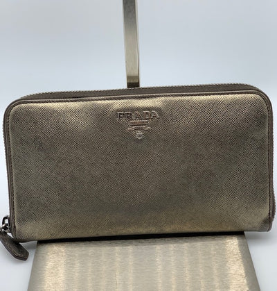 Prada Saffiano Zippy Wallet