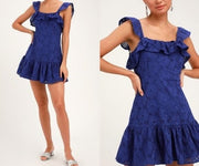 Eyelet Ruffled Dress NWT Small