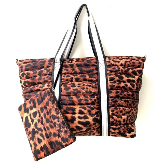 Leopard Tote 3 pc Set