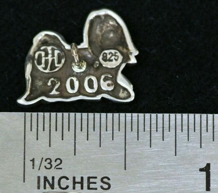 John Hardy  Tie Tack Chinese Zodiac Year of the Dog Pin Sterling Silver