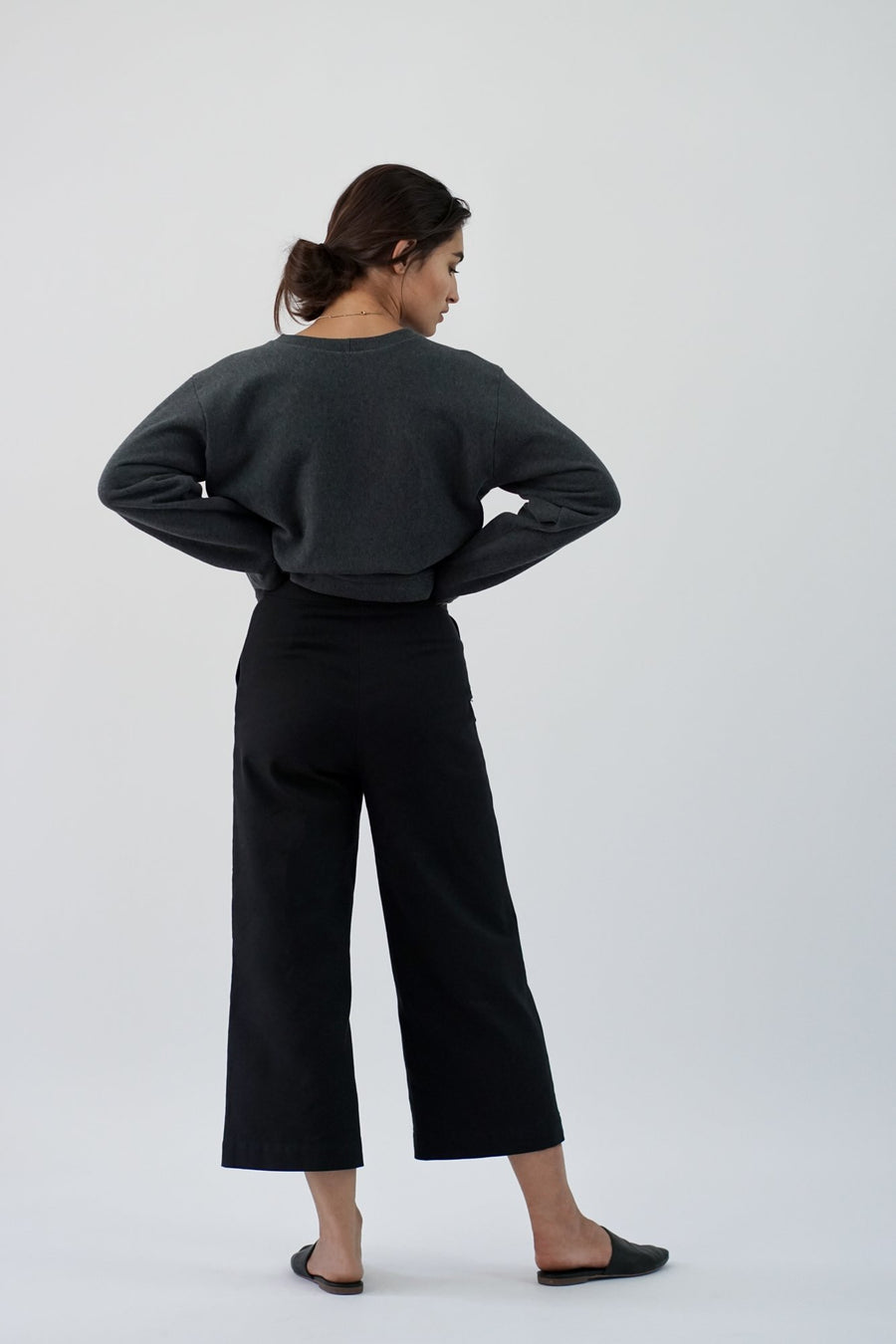 sustainable BLACK PANTS LAUREL BACK