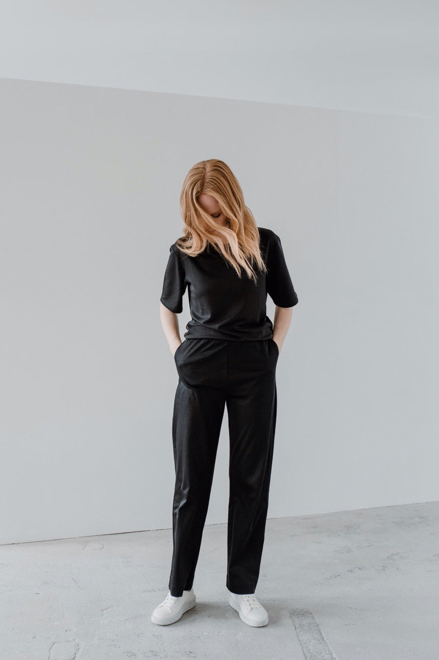 ethical Black Pants PINE front
