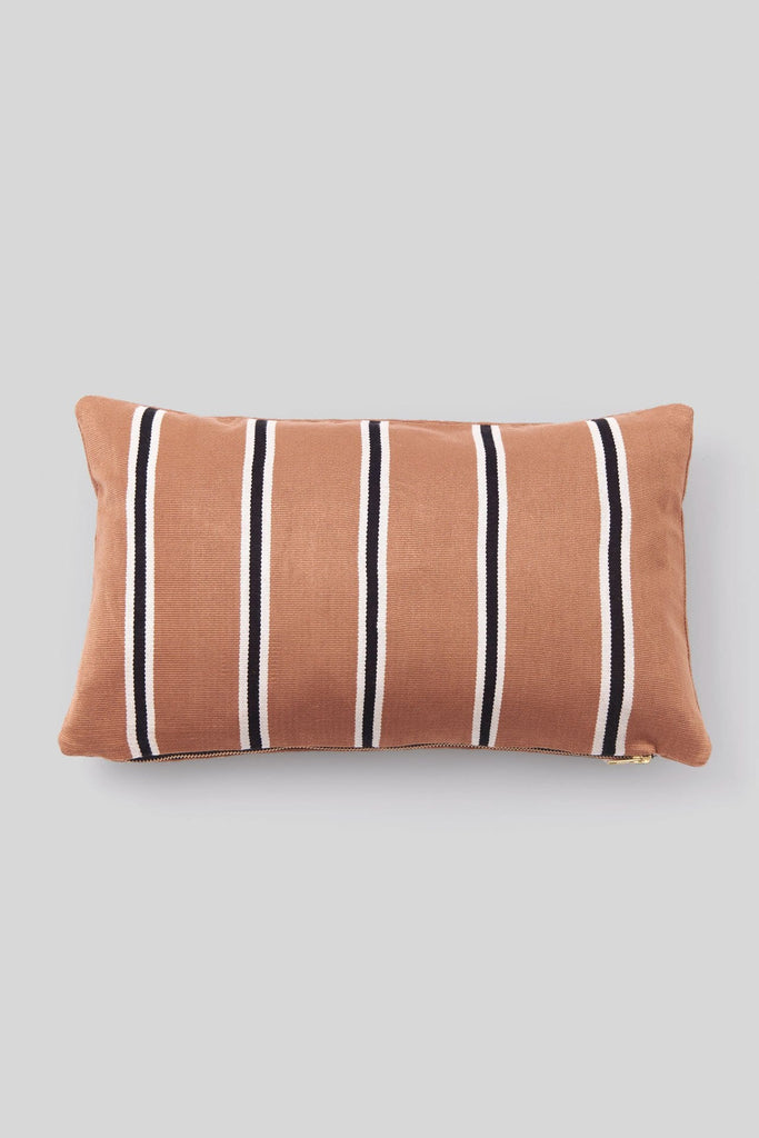 LISO STRIPES CACAO PILLOW