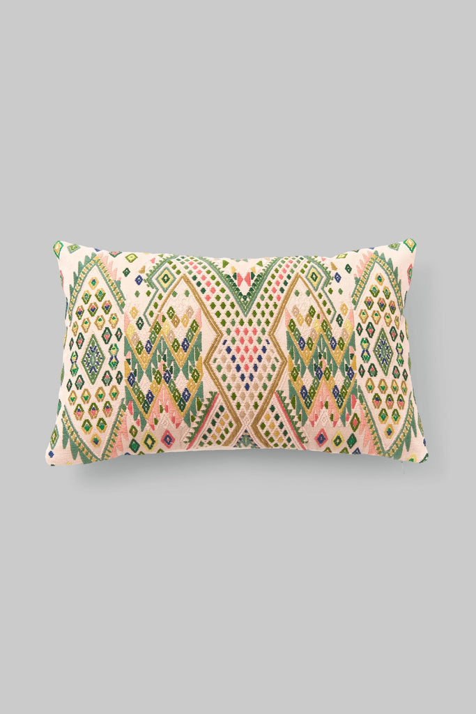 BROCADO IXKOT BEIGE PILLOW
