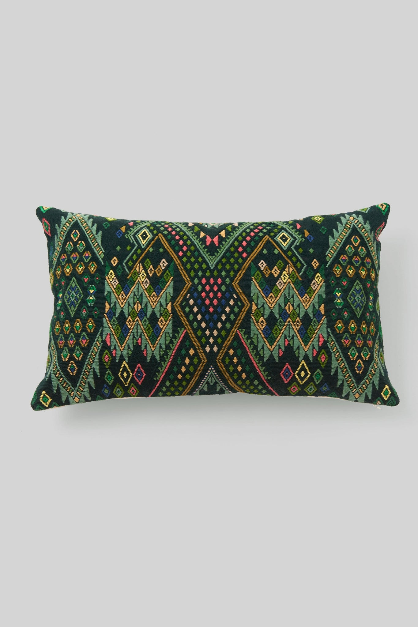 BROCADO IXKOT GREEN PILLOW