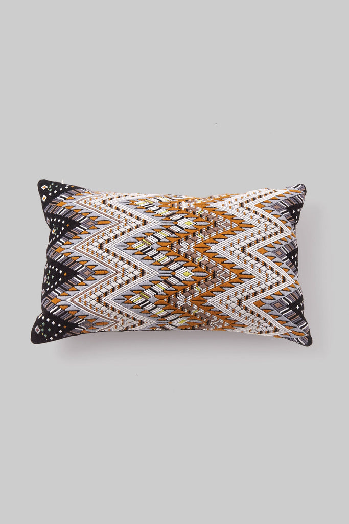 BROCADO SERPIENTE BROWN PILLOW