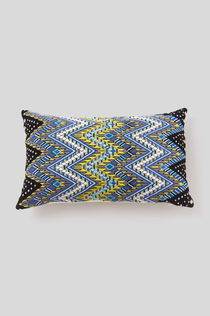 BROCADO SERPIENTE BLUE PILLOW