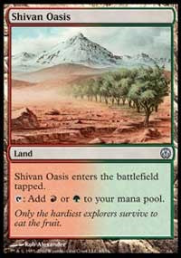 Shivan Oasis [Duel Decks: Phyrexia vs. the Coalition] | From The Deep Games