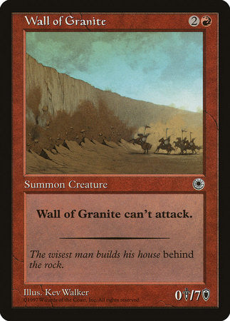Wall of Granite [Portal] | From The Deep Games